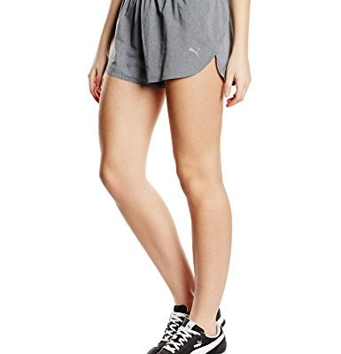 PUMA Damen Oberbekleidung Faster than you Shorts, hellgrau, M, 513771-0002