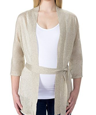 bellybutton Schwangerschaftsmode Damen, Strickjacke, FRIDE - Strickjacke 3/4 Arm, Grau (dove Melange 8871), S